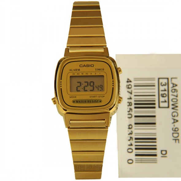 Casio Ladies Digital Quartz Watch LA670WGA-9DF