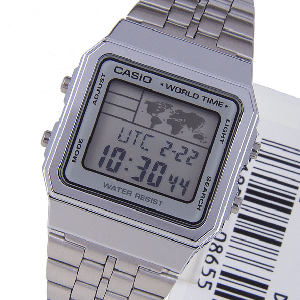 Casio World Time Digital Watch A500WA-7D A500WA-7