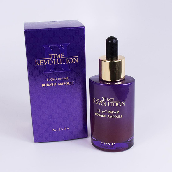 NEW MISSHA TIME REVOLUTION NIGHT REPAIR SCIENCE BORABIT ACTIVATOR AMPOULE 50ML 8806185784276