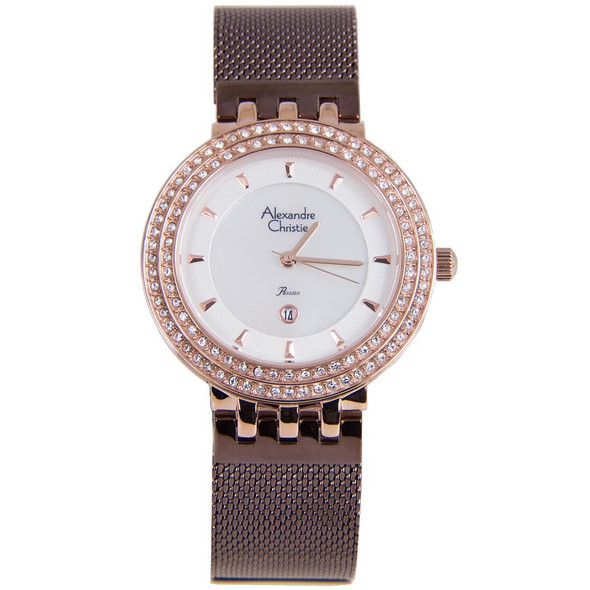 2651LDBRNSL Alexandre Christie Passion Diamond Ladies Watch