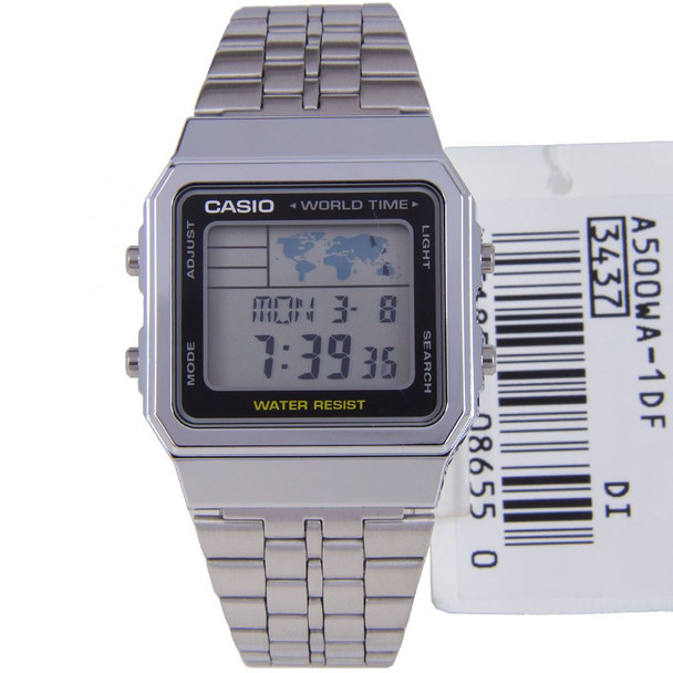 Casio A500WA-1D Stainless Steel Watch