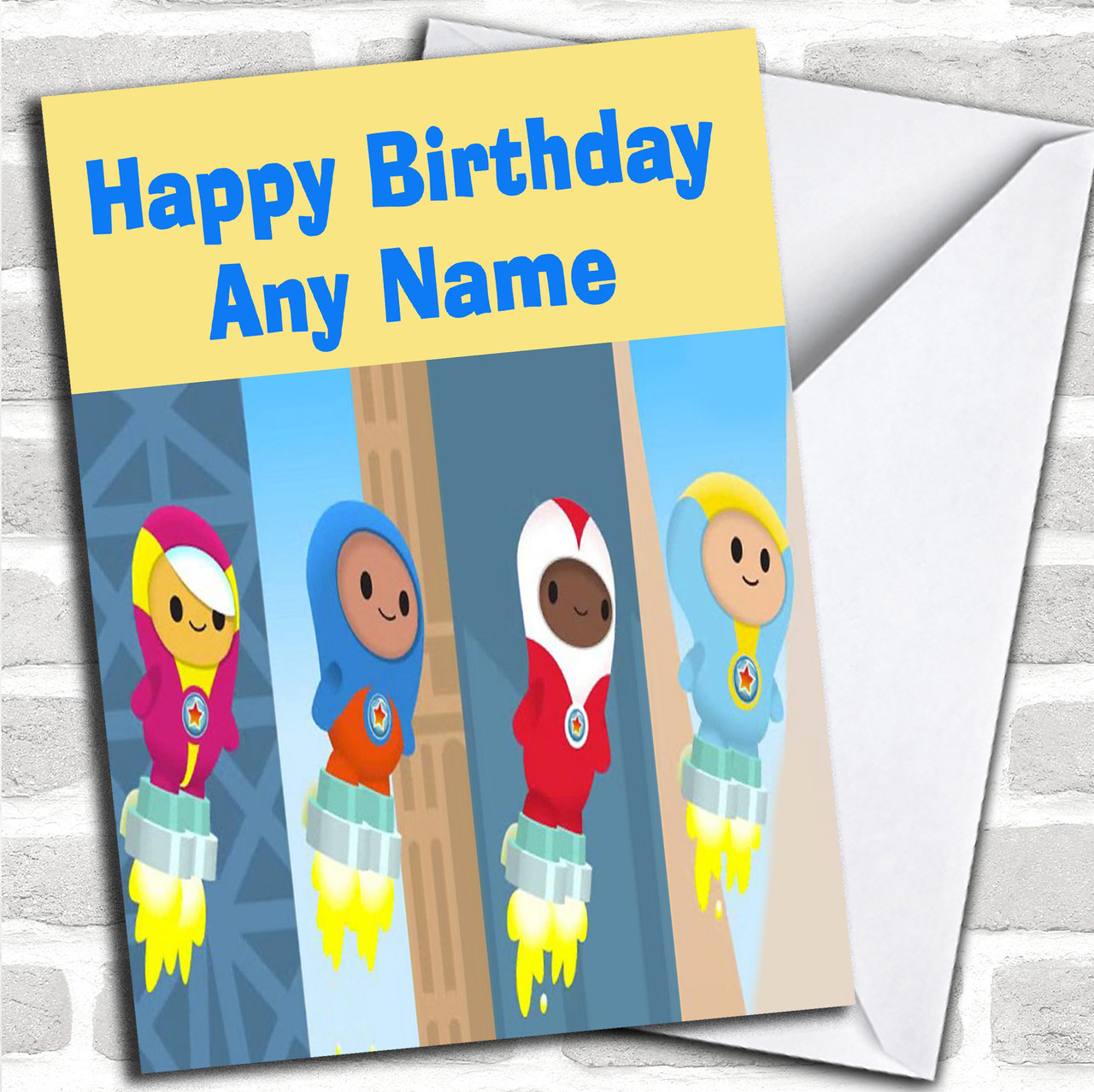 2 x GO JETTERS PERSONALISED PHOTO BIRTHDAY BANNER