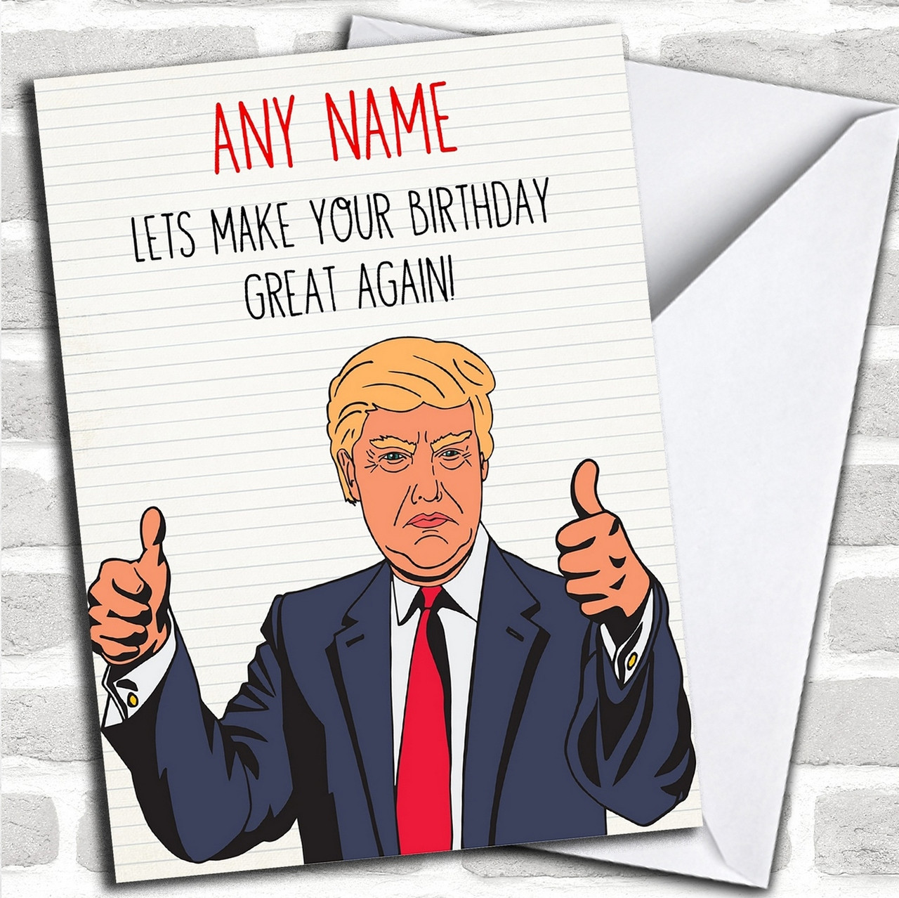 Funny Donald Trump Great Again Personalized Birthday Card