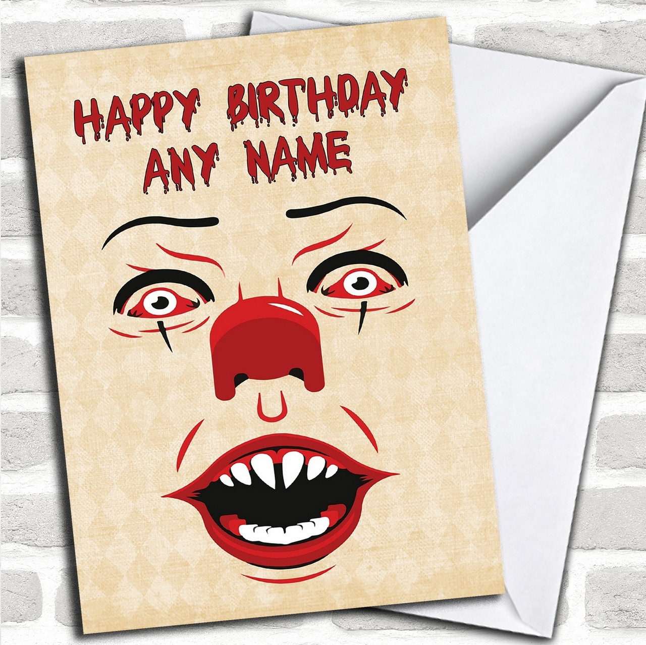 Pennywise Clown It Personalized Birthday Card