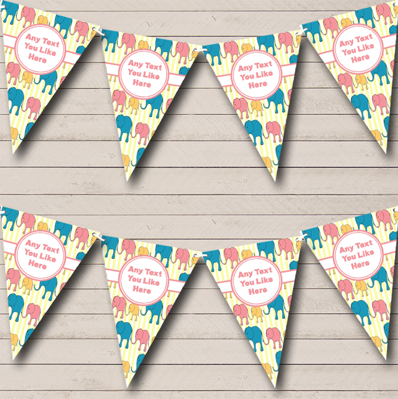 Rainbow Stripes Bright Gay Pride Personalized Birthday Party Bunting Banner