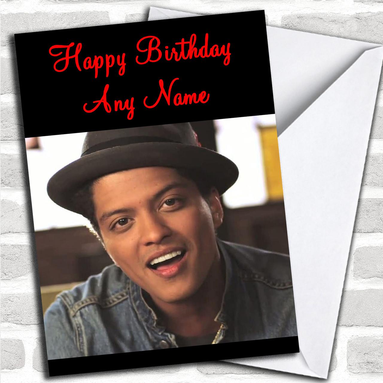 Bruno Mars Personalized Birthday Card