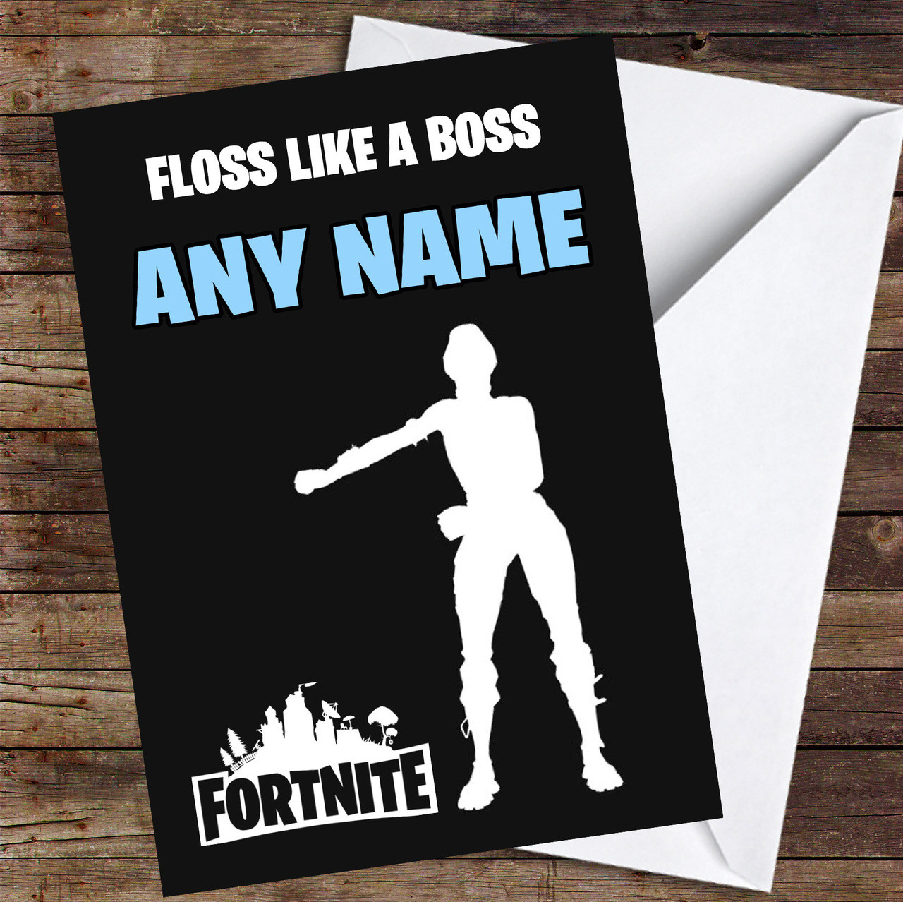 photograph about Printable Children's Birthday Cards called Fortnite Dance Floss Such as A Manager Custom made Childrens Birthday Card