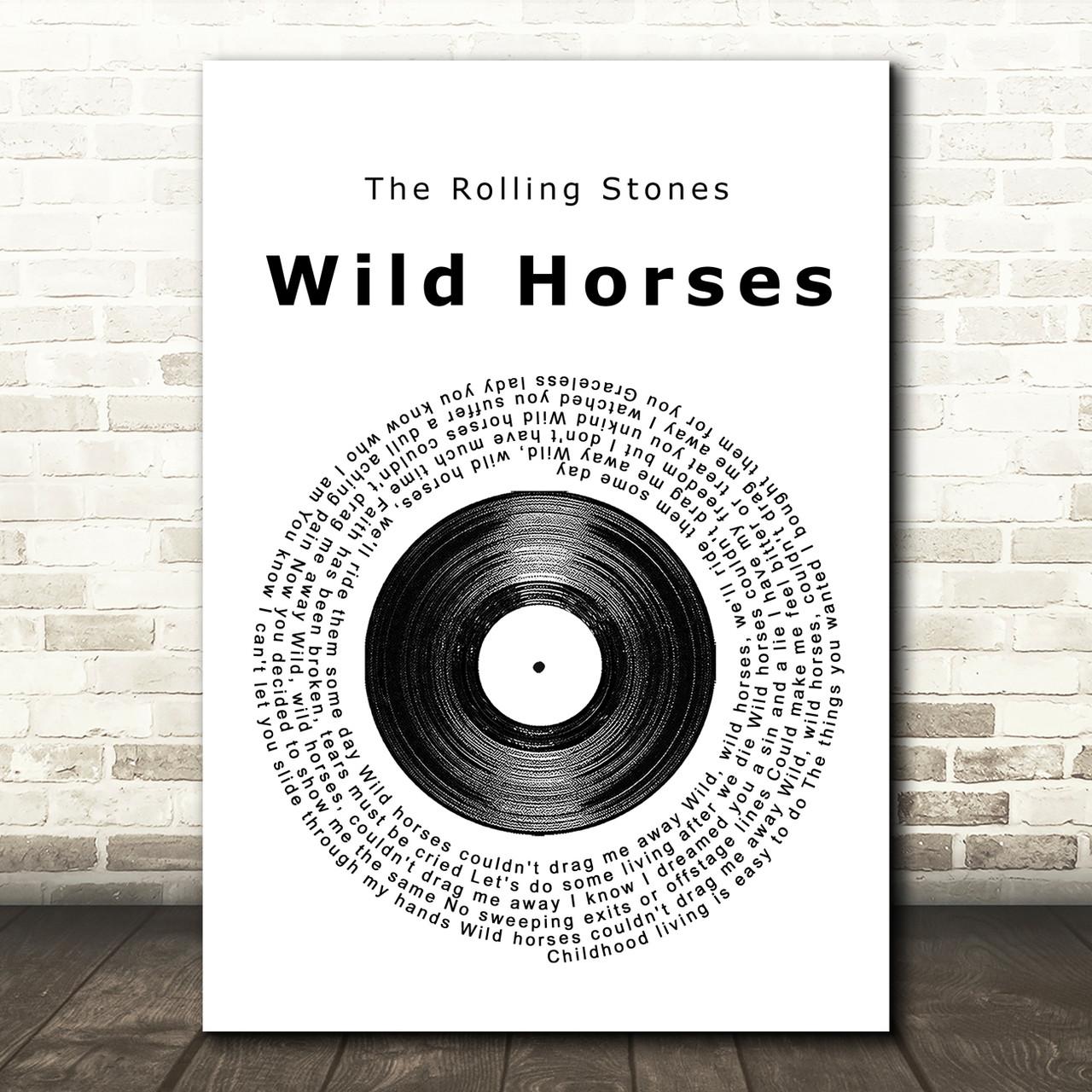 Wild Horses Heart Song Lyric Quote Print