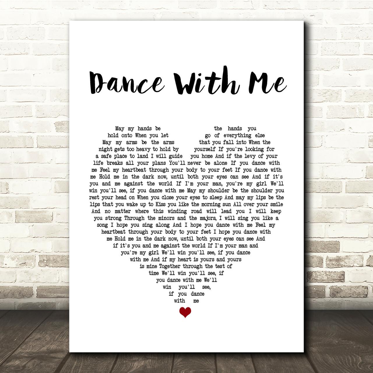 Perfect Grey Song Lyric Man Lady Dancing Quote Print