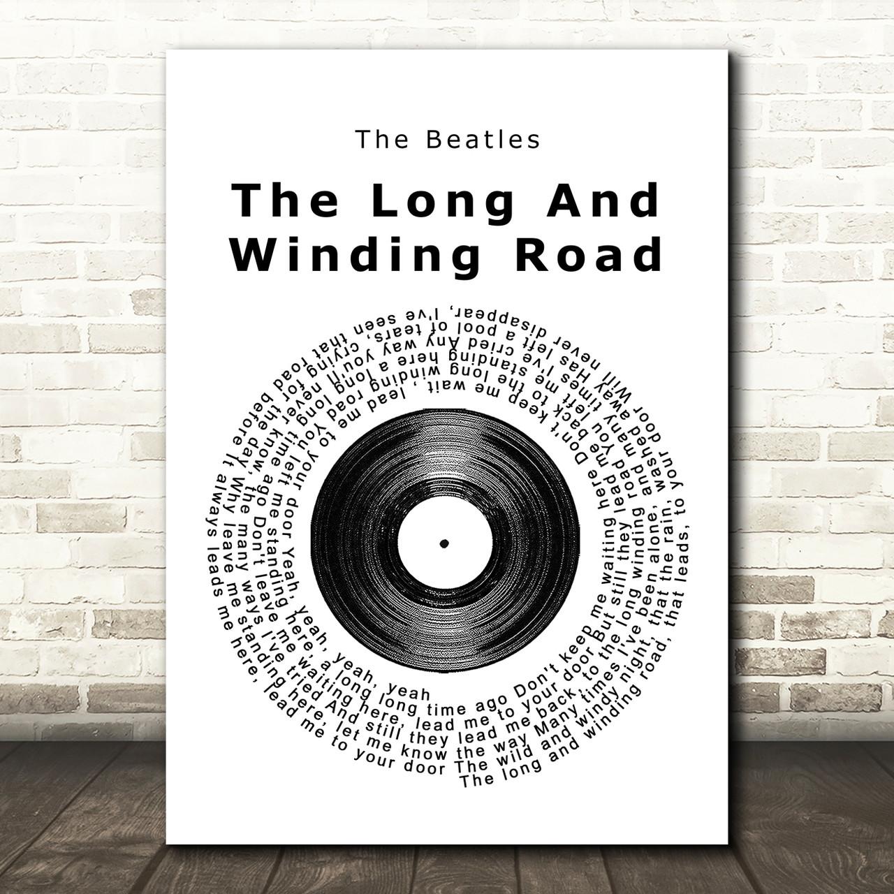 The Beatles Framed Song Lyrics your song Vinyl Record framed print