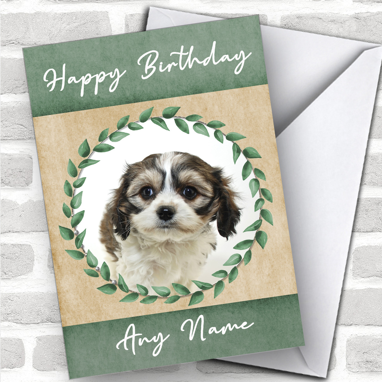 Goldendoodle Dog Traditional Animal Personalized Christmas Card