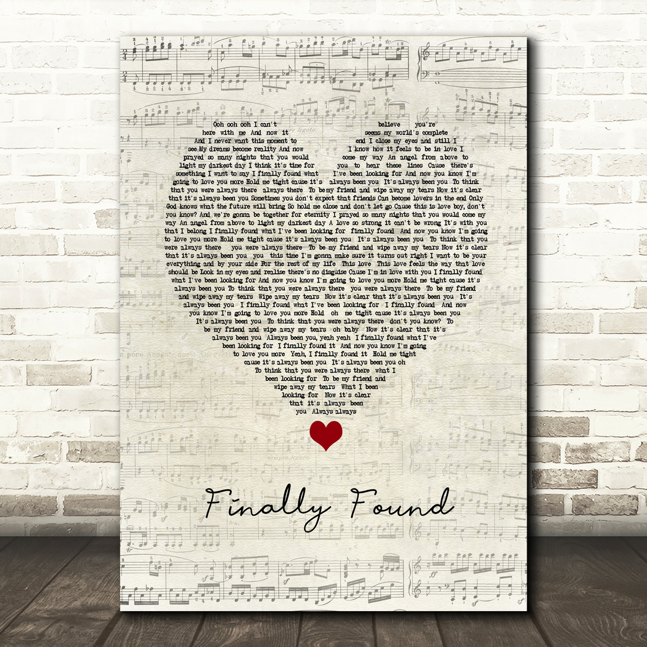 You Will Be Found Script Heart Song Lyric Print