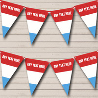 Red Blue /& White Nautical Boat Personalised Carnival Fete Street Party Bunting