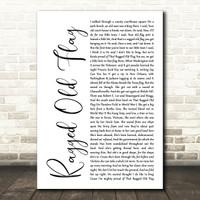 Mr Tambourine Man Script Heart Song Lyric Print