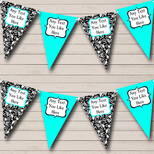 Elegant Black And Gold Personalised Retirement Party Bunting Banner Garland