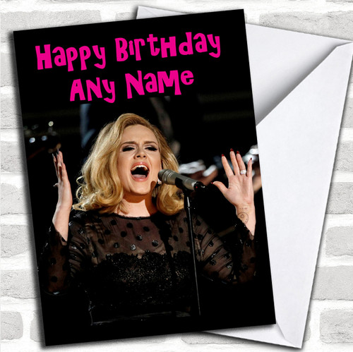 Adele Personalized Birthday Card