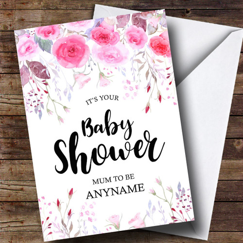 Personalised Funny Hit The Bottle Burlap Baby Shower Card