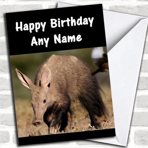 Aardvark Personalized Birthday Card