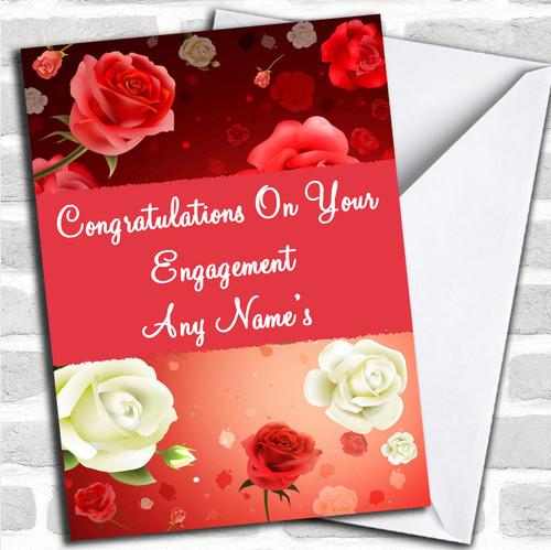 Cows Kissing Personalised Engagement Greetings Card