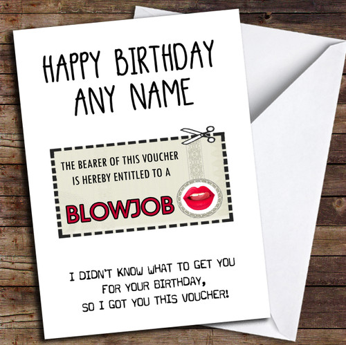 Personalized Cards Sexy Rude Birthday Cards Red Heart