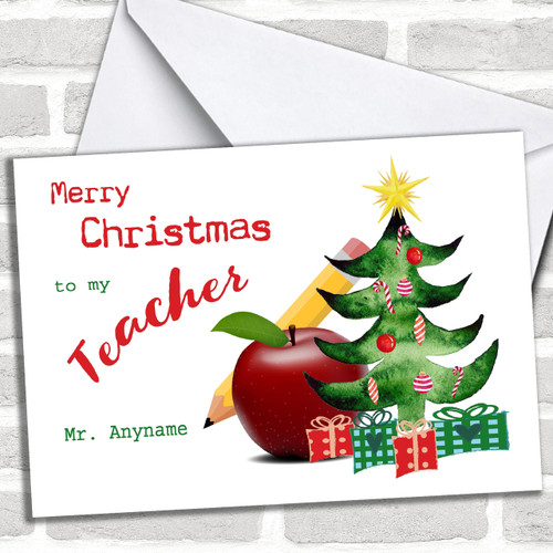 Christmas Cards For Teachers.Personalized Cards Christmas Cards Christmas Cards For