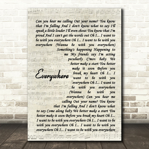 Landslide Song Lyric Man Lady Dancing Quote Print