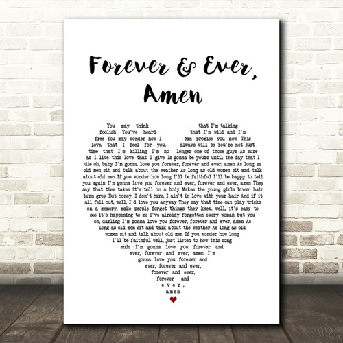 Amen Heart Song Lyric Quote Print Forever And Ever