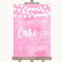Baby Pink Watercolour Lights Let Them Eat Cake Personalized Wedding Sign