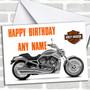 Harley Davidson Bike Personalized Birthday Card