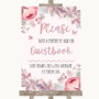 Blush Rose Gold & Lilac Take A Moment To Sign Our Guest Book Wedding Sign