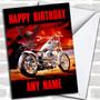 Harley Davidson Motorcycle Personalized Birthday Card
