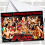 Wwe Raw Personalized Birthday Card