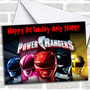 Power Rangers Personalized Birthday Card
