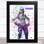 Splatter Art Gaming Fortnite Teknique Kid's Room Children's Wall Art Print