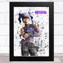 Splatter Art Gaming Fortnite Crystal Kid's Room Children's Wall Art Print