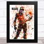 Splatter Art Gaming Fortnite Blaze Kid's Room Children's Wall Art Print