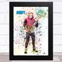 Splatter Art Gaming Fortnite Drift Kid's Room Children's Wall Art Print