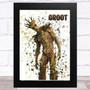Splatter Art Gaming Fortnite Groot Kid's Room Children's Wall Art Print