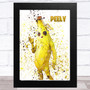 Splatter Art Gaming Fortnite Peely Kid's Room Children's Wall Art Print