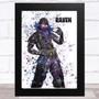 Splatter Art Gaming Fortnite Raven Kid's Room Children's Wall Art Print