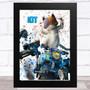 Splatter Art Gaming Fortnite Kit Kid's Room Children's Wall Art Print