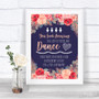 Navy Blue Blush Rose Gold Toiletries Comfort Basket Personalized Wedding Sign