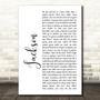 Johnny Cash Jackson White Script Song Lyric Music Art Print