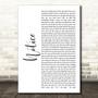 Thomas Rhett Notice White Script Song Lyric Music Art Print