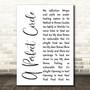 A Perfect Circle Brena White Script Song Lyric Music Art Print