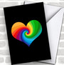 Pride Rainbow Heart Personalized Valentine's Day Card