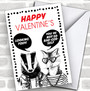 Funny Badger & Fox Personalized Valentine's Day Card