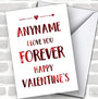 I Love You Forever Personalized Valentine's Day Card