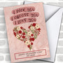 I Pick You Floral Personalized Valentine's Day Card