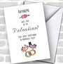 Be Mine Marry Me Personalized Valentine's Day Card